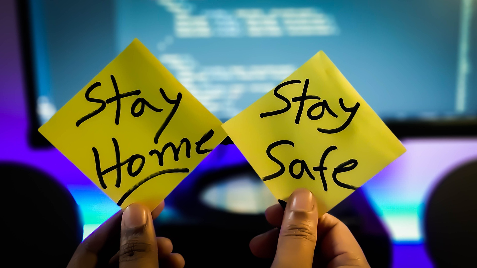 stay at home stay safe share with friends and family